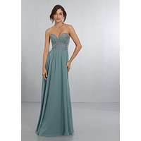 Morilee Bridesmaids 21568 Strapless Beaded Embroidered Bridesmaid Dress