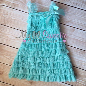 Light aqua dress, mint dress, newborn dress, Lace dress, infant outfit, special occasion dress, toddler dress, girls dress,