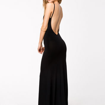 Simple Open Back Maxi Dress