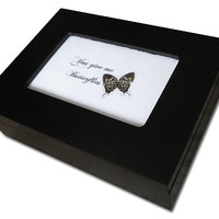 Real Hairstreak Butterfly Jewelry Box