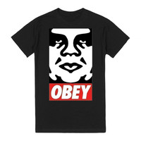 "Original ""Obey"" Black Tee"
