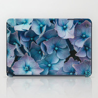 Art Print Tablet Cases, iPad Mini and iPad (2nd, 3rd, and 4th Gen), Blue Hydrangeas Art Print Tablet Cover.