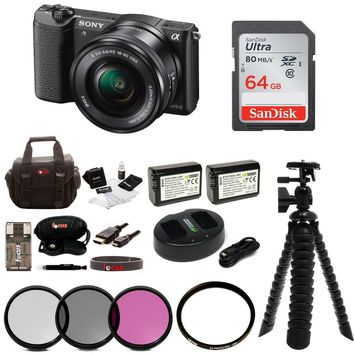 Sony Alpha a5100 Mirrorless Digital Camera w/ 16-50mm Lens & 64GB SD Card Bundle | Overstock.com Shopping - The Best Deals on Camera Bundles