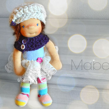 Handmade doll, waldorf doll, waldorf inspired doll, OOAK doll, doll, rag doll, cuddle doll, fabric doll, cloth doll