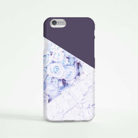 iPhone 6 Case, iPhone 6 Plus Case, iPhone 5S Case, iPhone 6, iPhone 5C Case, iPhone 4S Case, iPhone 4 Case - Marble Dark Purple Rose
