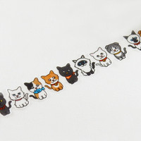 Masking Tape - ROUND TOP, Cats, 20mm x 5m
