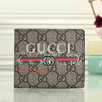 Gucci Men Fashion Leather Wallet Purse