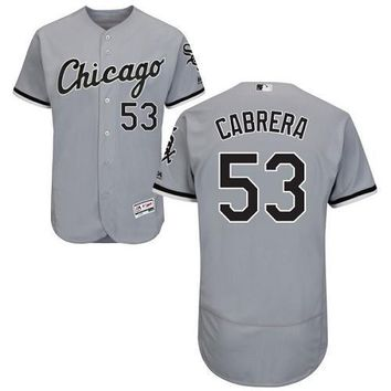 Chicago White Sox Cool Base MLB Custom Gray Jersey