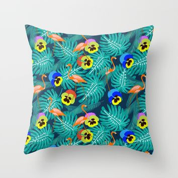 Summer tropical I Throw Pillow by Sagacious Design