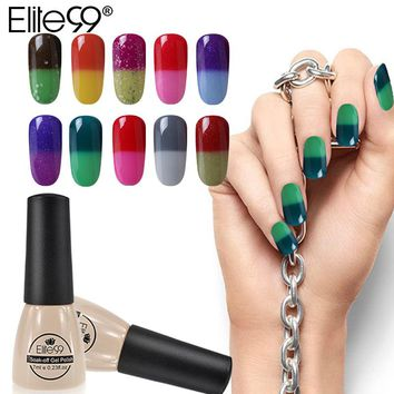 Elite99 Changing Color Chameleon Varnish 7ml Temperature Changeable Color Nail Gel Enamel Nail Polish UV LED Lacquer