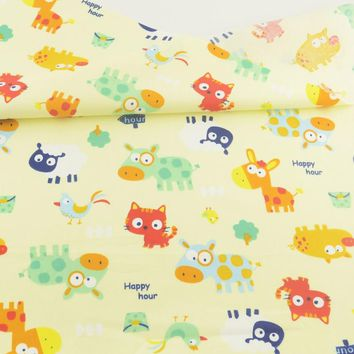 Teramila Bedding Decoration Tissue Quilting Home Textile Sewing Cloth Animal Print Cotton Fabric Tecido Patchwork Craft