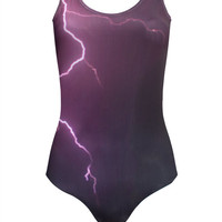 Lightning Print Swimsuit