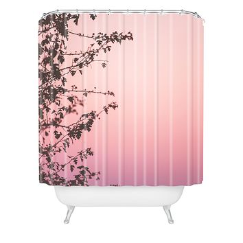 Hello Twiggs Pink Dusk Shower Curtain