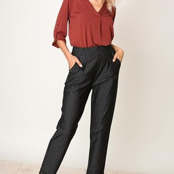 Women's Pinstripe Cigarette Pants