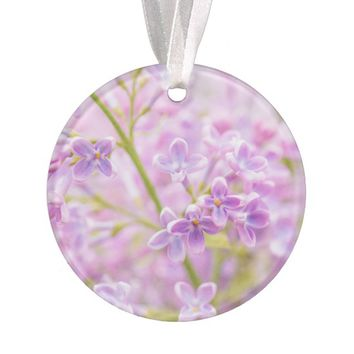 Lilac Flowers Mist Ornament