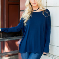 PIKO 1988 Long Sleeve Top - Navy
