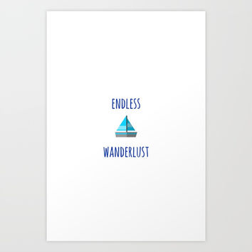 ENDLESS WANDERLUST Art Print by Love from Sophie