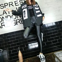 """Adidas"" Fashion Casual Numeral Letter Print Women Long Sleeve Cardigan Buttons Shirt Tops"