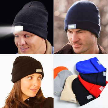 Keep Warm LED Winter Beanies - Must have for the Winter - Winter Spring Hat Cap - Christmas Gift
