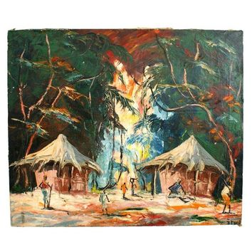 Pre-owned Original Tropical Landscape Painting