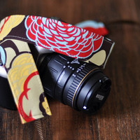 Nikon Camera Strap - Brown Retro - Bohemian Camera Strap for SLR / dSLR Cameras