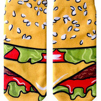 Cartoon Cheeseburger Ankle Socks