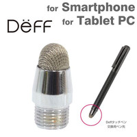 Deff Dual Carbon Type Wooden Touch Pen with Ballpoint Pen (For Replacement Nib Silver)