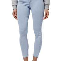'Joni' High Rise Acid Wash Skinny Jeans (Petite)