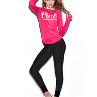 Flat Waist Yoga Legging - PINK - Victoria's Secret