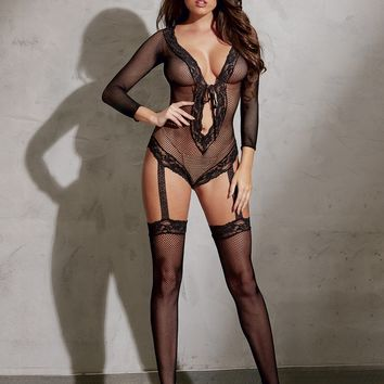 Long Sleeve Teddy Bodystocking