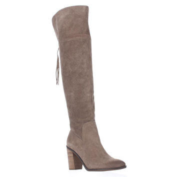 Franco Sarto Eckhart Tassel Back Over The Knee Boots, Taupe, 9.5 US / 39.5 EU