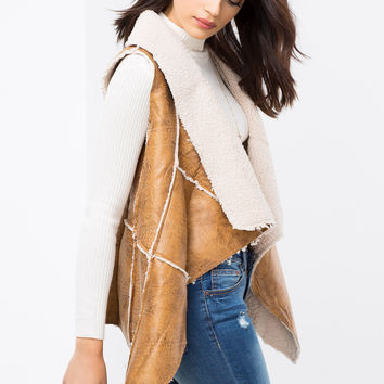 Christine Shearling Vest