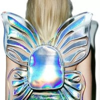 Holographic Butterfly Wings Backpack