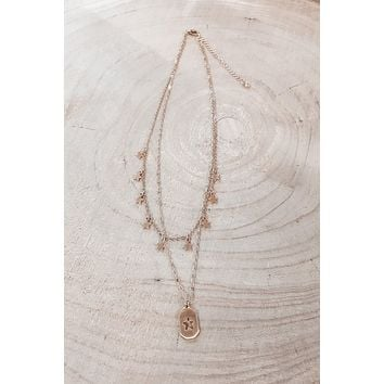 Star Power Gold Layered Necklace