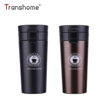 Transhome Stainless Steel Tumbler Thermocup Coffee Mugs 380ml Thermos Fashion Insulation Water Bottle Travel Mug Vacuum Flasks