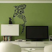 Wall Mural Vinyl Decal Sticker Decor Art Tattoo Tribal Shark AL164