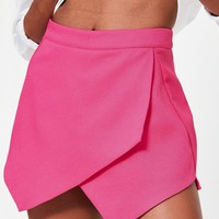 Missguided - Pink Wrap Detail Skort