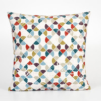 Modern Pillow Cover. Geometric Pillow Cover. Retro Pillow Case. Soft Decorative Pillow. 18x18 Pillow Case. Multi Colored Mosaic Pillow