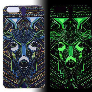 Deer Luminous Light Up creative case Cover for iPhone 5s / iPhone 6s / iPhone 6s Plus