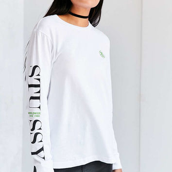 Stussy Modern Logo Long-Sleeve Tee - Urban Outfitters
