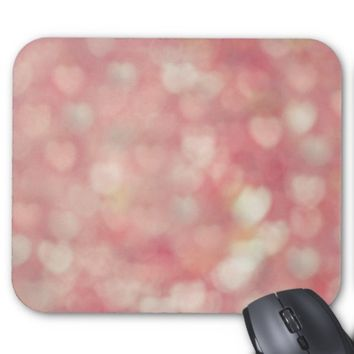 Pretty Pink Love Hearts Girly Mousepad