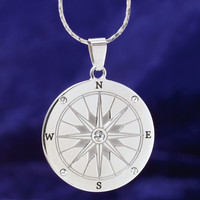 Stainless Crystal Direction of Dreams Pendant 24in - Women's Clothing & Symbolic Jewelry – Sexy, Fantasy, Romantic Fashions