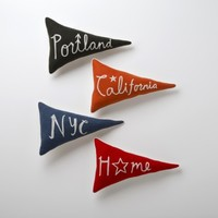 Home Team Pennant Pillows | Schoolhouse Electric & Supply Co.