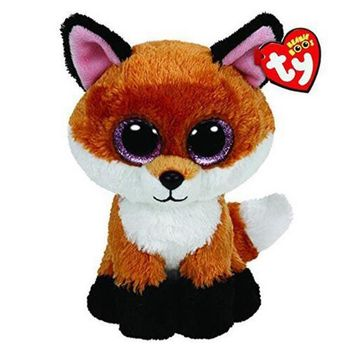 "Ty Beanie Boos Plush Animal Doll Slick Fox Soft Stuffed Toys With Tag 6"" 15cm"