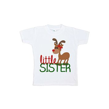 Custom Party Shop Youth Little Sister Christmas T-shirt