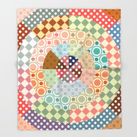 Playing with circles Throw Blanket by Octavia Soldani | Society6