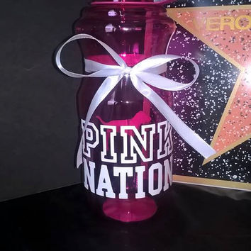 Custom VS PINK Victoria Secret Pink Nation Water Bottle