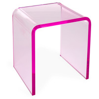 Waterfall Side Table, Pink, Acrylic / Lucite, Standard Side Tables