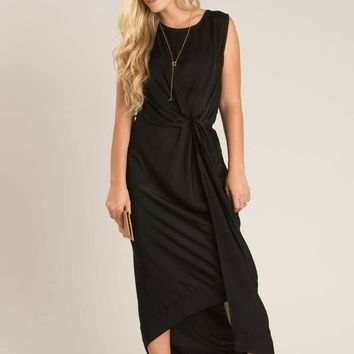 Claudia Black Knot Maxi Dress