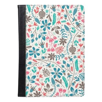 Retro Floral Pattern iPad Air Case